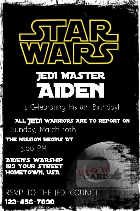 Free Star Wars Party Invitations Beautiful Star Wars Birthday Party Invitation Fully by Founditcards