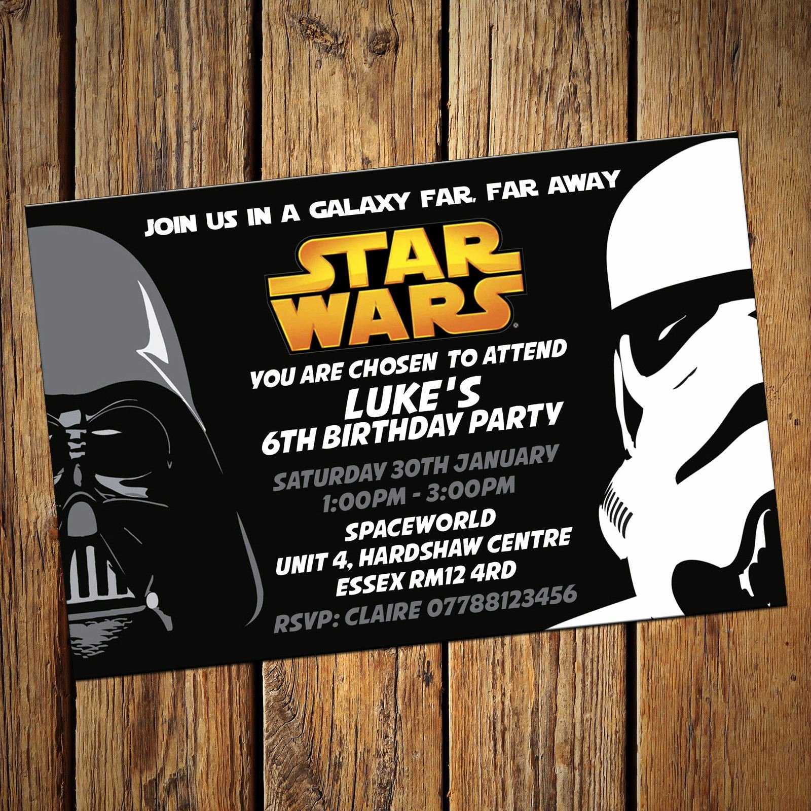 Free Star Wars Party Invitations Fresh Personalised Star Wars Invitations Party Invites