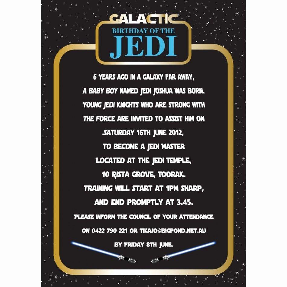 Free Star Wars Party Invitations Inspirational Invitation Star Wars