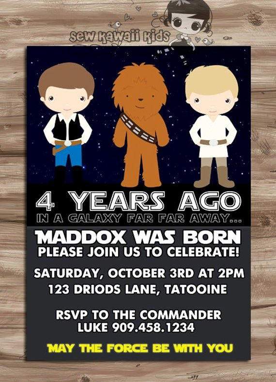 Free Star Wars Party Invitations Inspirational Star Wars Invite Star Wars Invite Star Wars Invitation Star