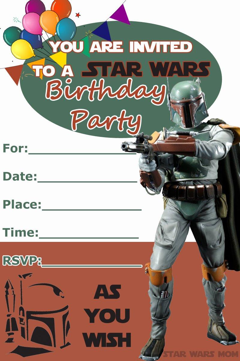 Free Star Wars Party Invitations Luxury 32 Amazing Star Wars Birthday Invitations