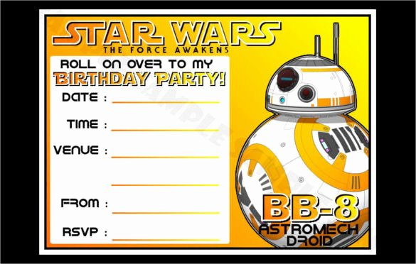 Free Star Wars Party Invitations New Star Wars Birthday Invitations