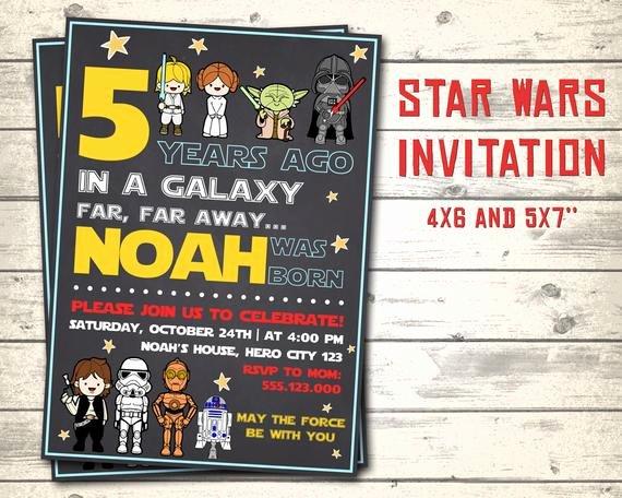 star wars invitation star wars birthday