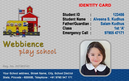 Free Student Id Template Fresh Id Cards Student Id Card Free Template