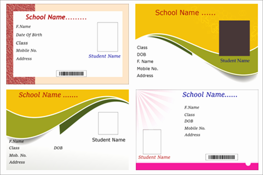 Free Student Id Template Luxury Id Card software Identity Card Maker software Student