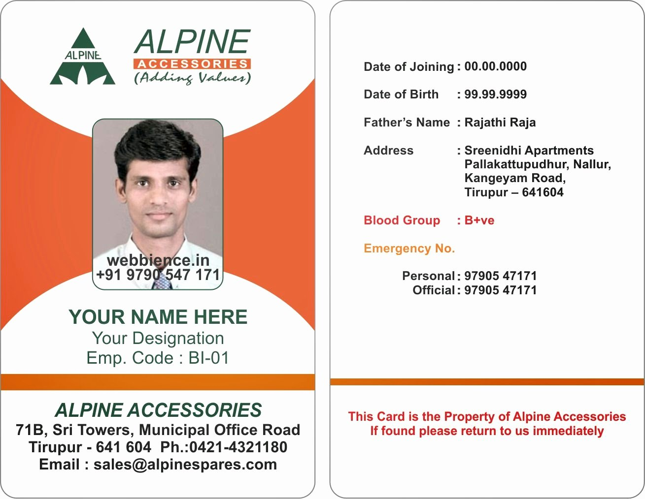 Free Student Id Template Luxury Template Galleries Employee Id Card Templates C