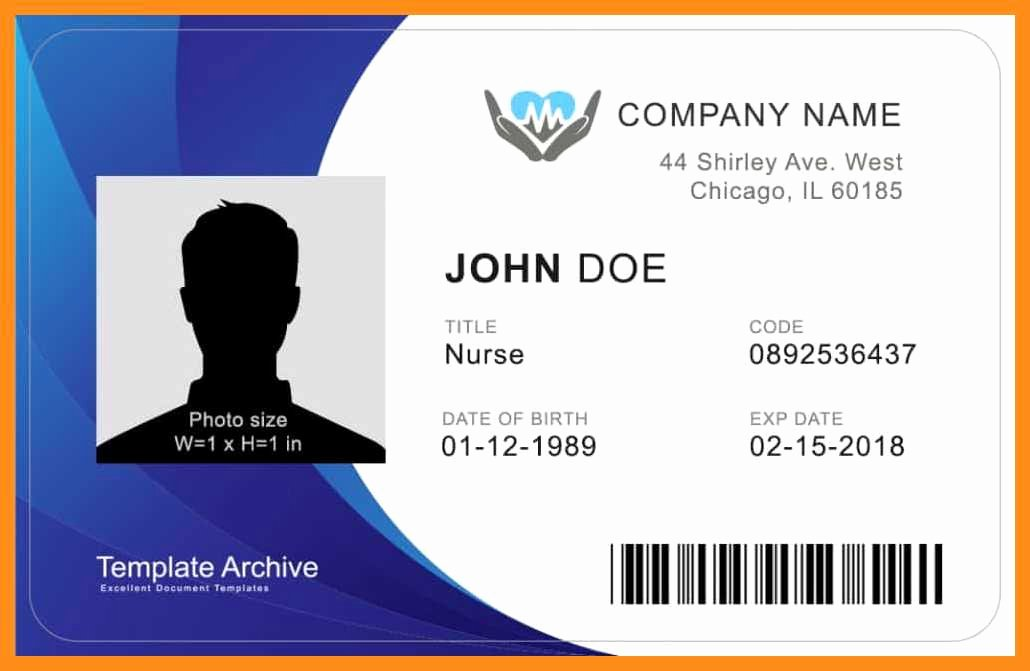 Free Student Id Template Unique 12 13 Microsoft Word Id Badge Template