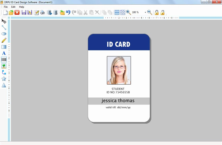 Free Student Id Template Unique Id Card Template