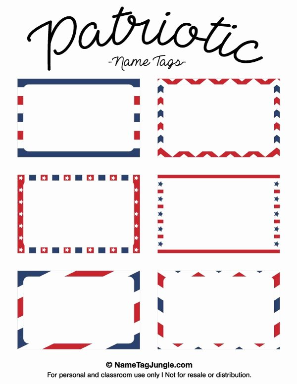 Free Template for Name Tags Best Of Free Printable Patriotic Name Tags the Template Can Also