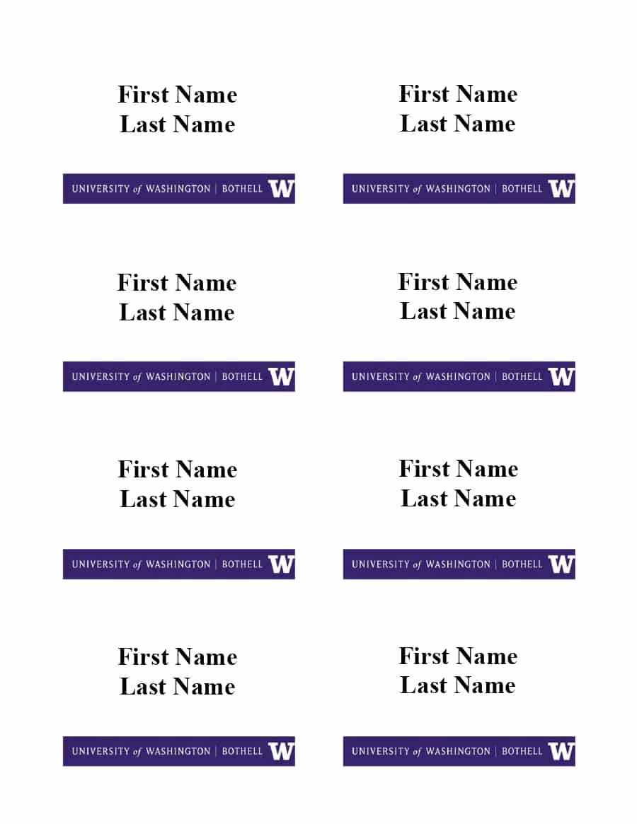 Free Template for Name Tags Lovely 47 Free Name Tag Badge Templates Template Lab