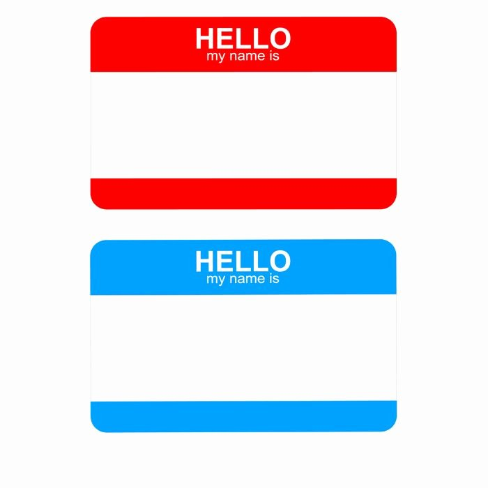 Free Template for Name Tags Luxury Free Hello My Name is Sticker Badge Template Title=