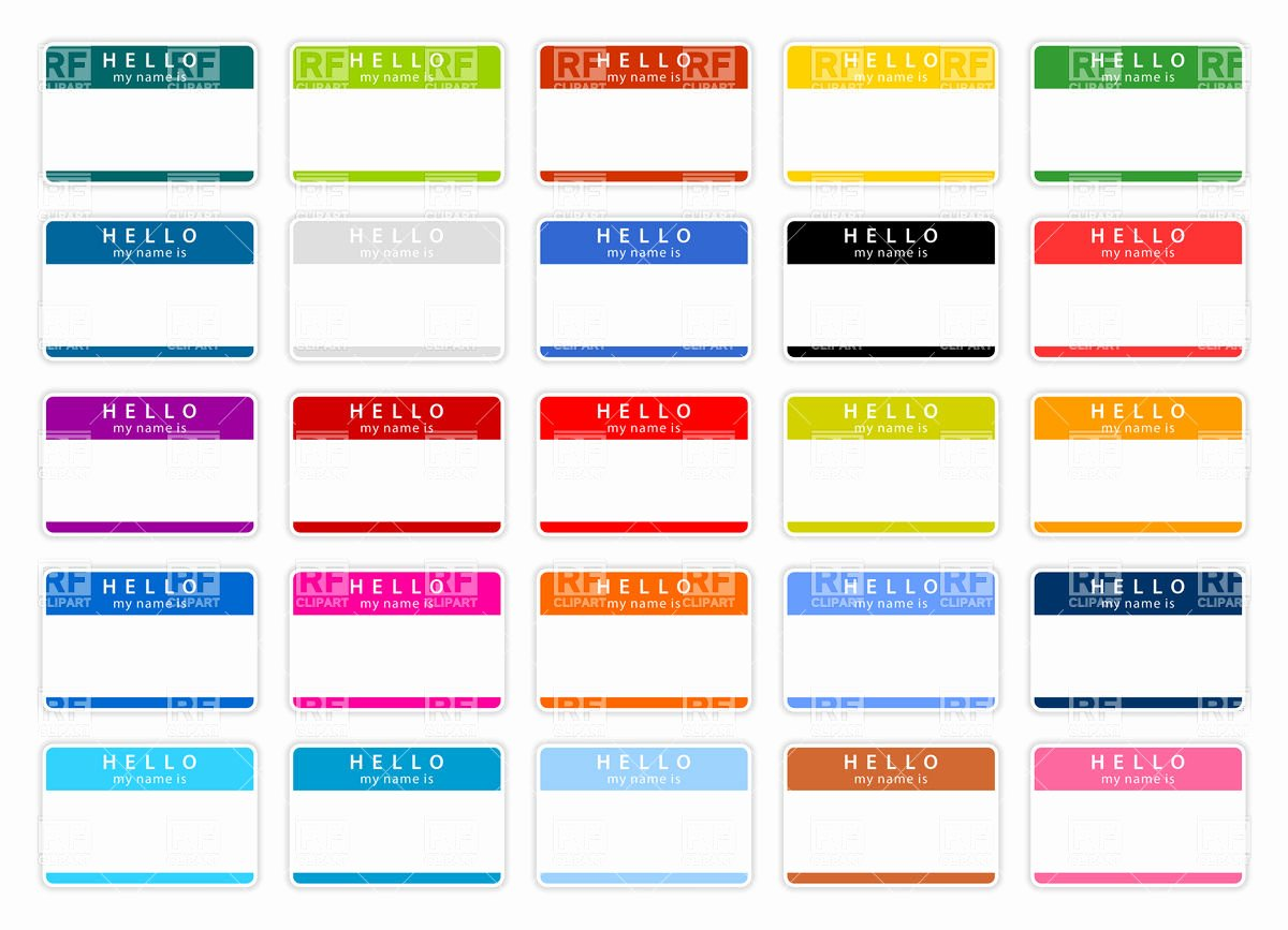 Free Template for Name Tags Unique Name Badge Template