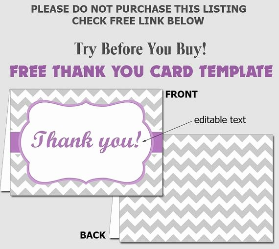 Free Thank You Cards Templates Best Of Free Folded Thank You Card Template Diy Editable