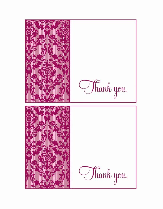Free Thank You Cards Templates Inspirational 30 Free Printable Thank You Card Templates Wedding