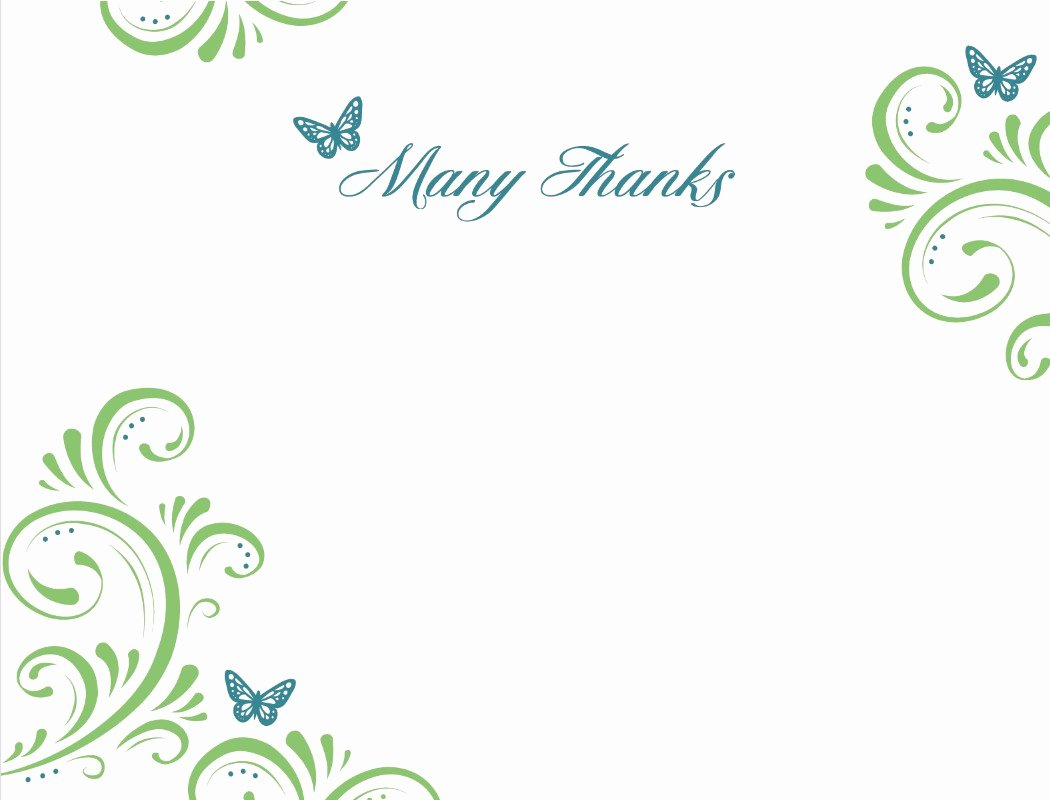 Free Thank You Cards Templates Lovely Thank You Template