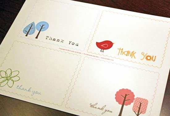Free Thank You Cards Templates Unique 25 Beautiful Printable Thank You Card Templates Xdesigns