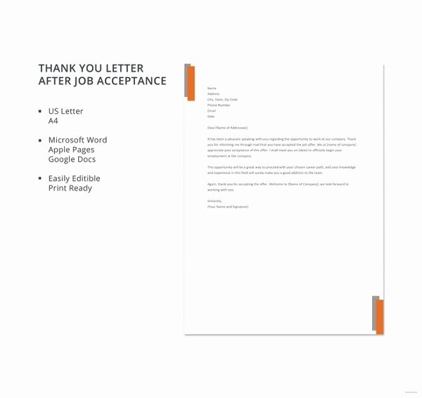 Free Thank You Letters Elegant 41 Free Thank You Letter Templates Doc Pdf