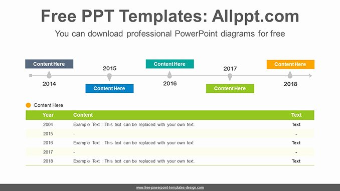 Free Timeline Powerpoint Template Awesome Simple Table Timeline Powerpoint Diagram Template
