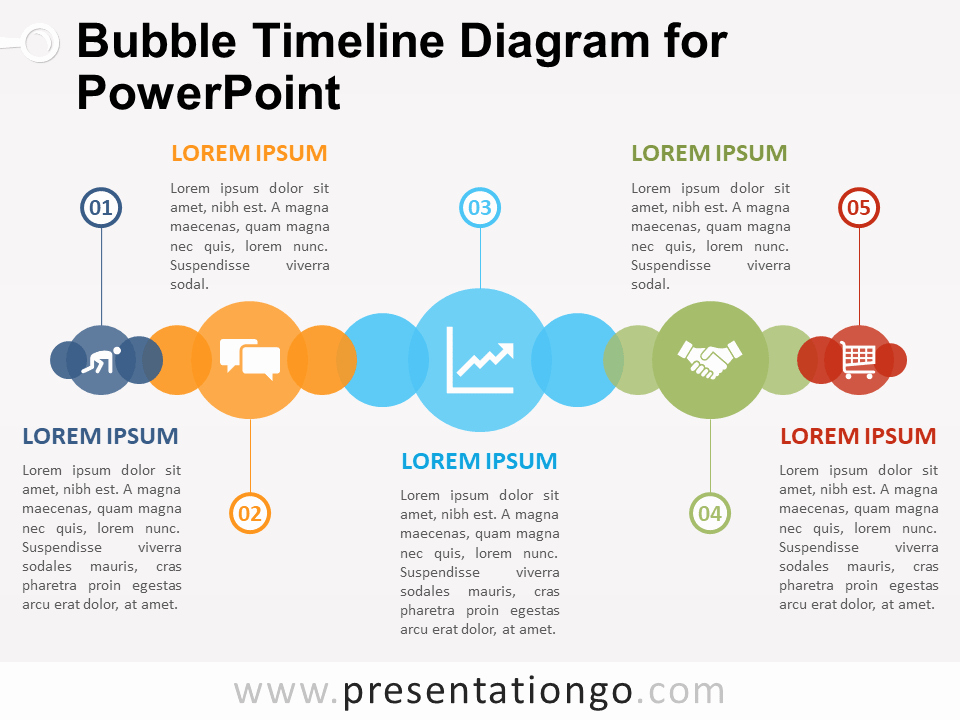 Free Timeline Powerpoint Template Beautiful Bubble Timeline Diagram for Powerpoint Presentationgo