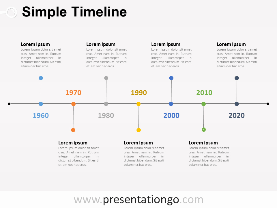Free Timeline Powerpoint Template Elegant Simple Timeline Powerpoint Diagram Presentationgo