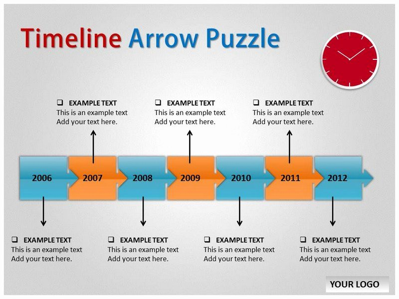 Free Timeline Powerpoint Template Elegant Timeline Arrow Puzzle Template for Powerpoint Timeline