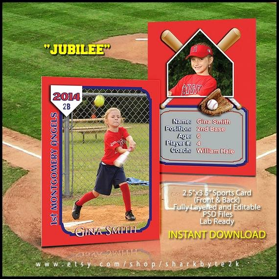 Free Trading Card Template Photoshop Fresh 2017 Baseball Sports Trader Card Template for Shop
