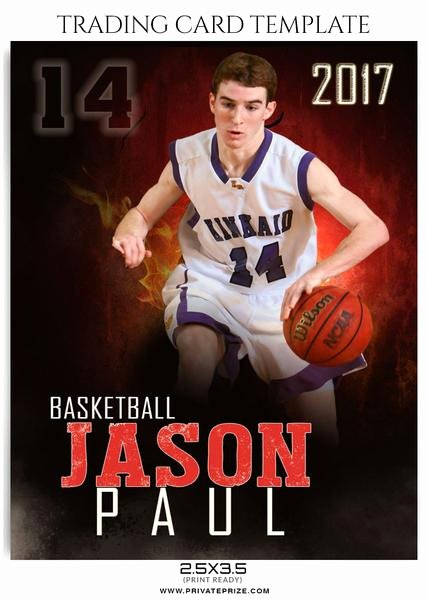 Free Trading Card Template Photoshop Fresh Jason Paul Sports Trading Card Template