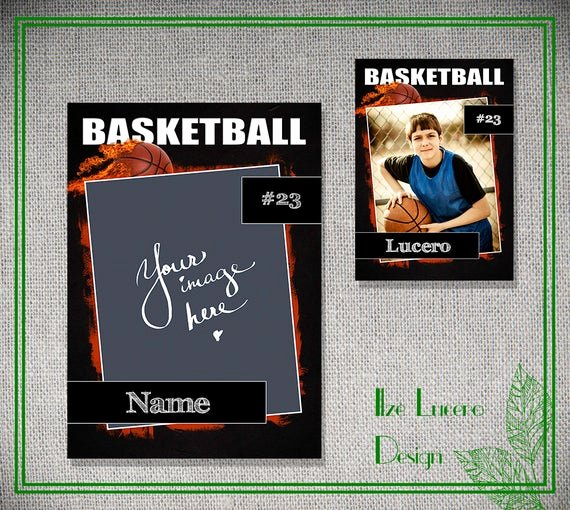 Free Trading Card Template Photoshop Fresh Psd Basketball Trading Card Template