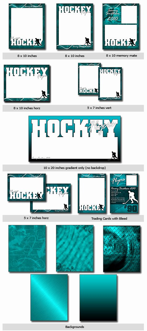 Free Trading Card Template Photoshop Inspirational Sports Hockey Cutouts Vol 11 Shop & Elements Templates