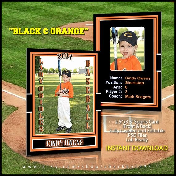 Free Trading Card Template Photoshop Luxury 2019 Baseball Sports Trader Card Template for Shop