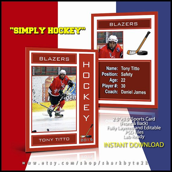 Free Trading Card Template Photoshop Luxury 2019 Hockey Lacrosse Sports Trader Trading Card Template