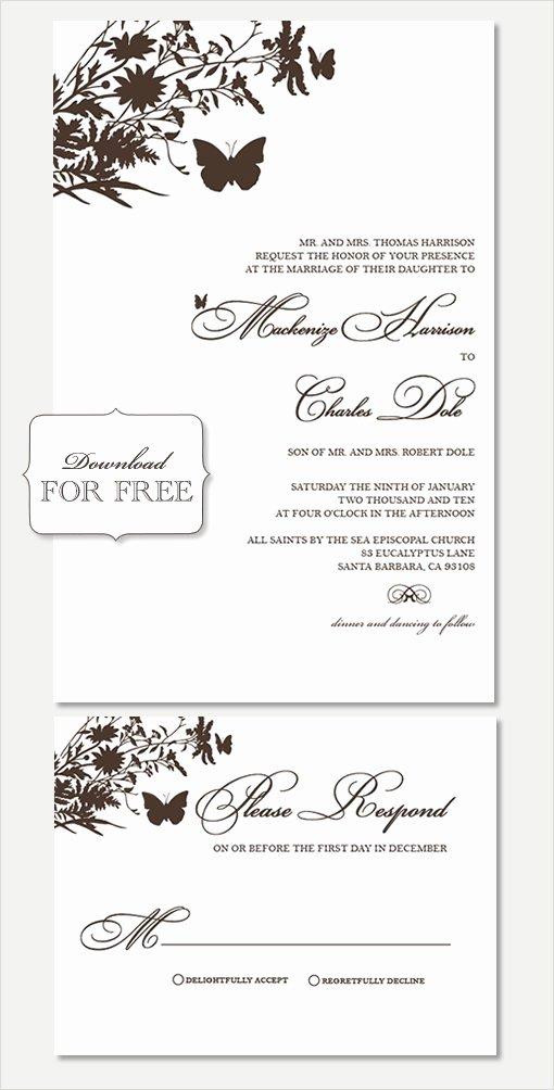 Free Wedding Invitation Printables Awesome Free Printable Wedding Invitation Templates