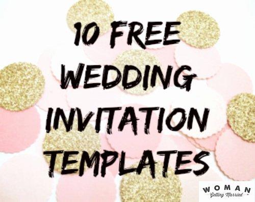 Free Wedding Invitation Printables Beautiful Diy Wedding Invitations Our Favorite Free Templates