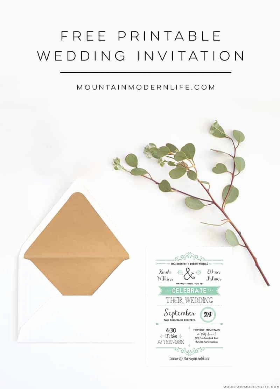 Free Wedding Invitation Printables Best Of Free Wedding Invitation Template
