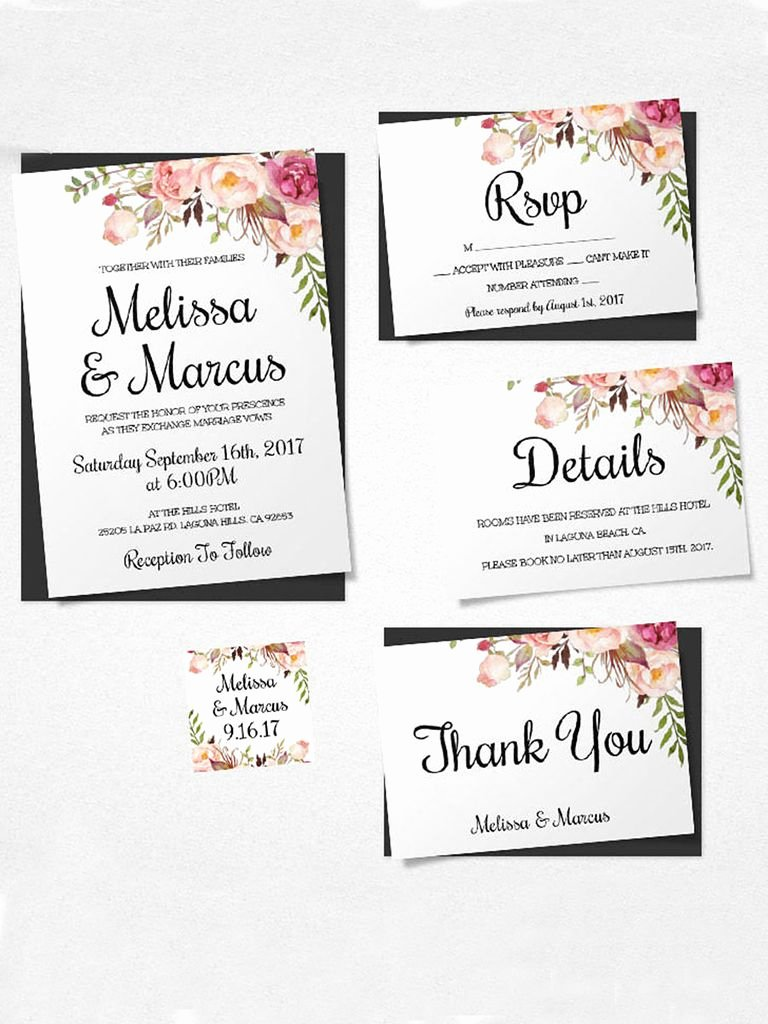 Free Wedding Invitation Printables Elegant 16 Printable Wedding Invitation Templates You Can Diy