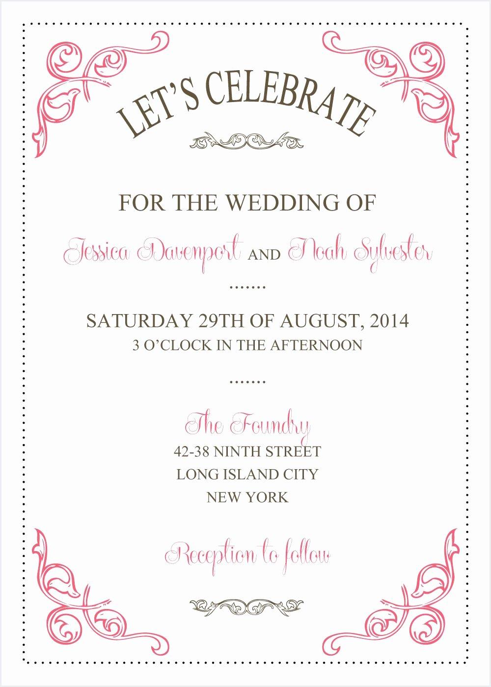 Free Wedding Invitation Printables Fresh Wedding Invitations Template Wedding Invitations