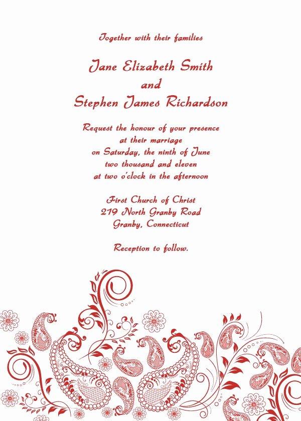 Free Wedding Invitation Printables Inspirational Free Printable Wedding Invitation Templates