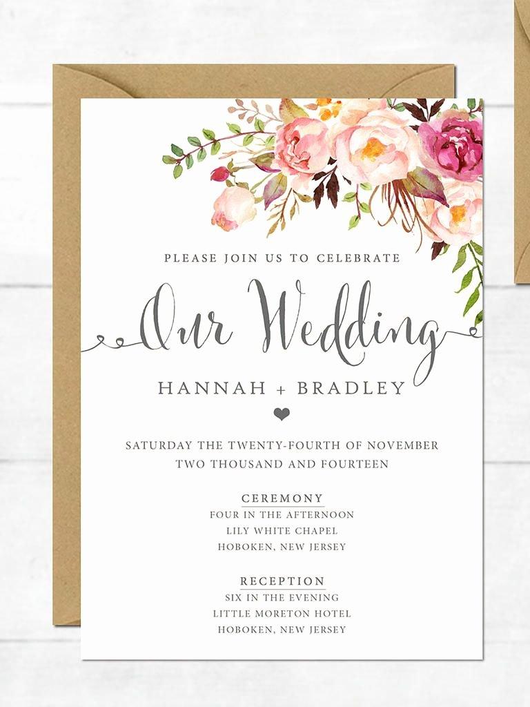 Free Wedding Invitation Printables Lovely 16 Printable Wedding Invitation Templates You Can Diy