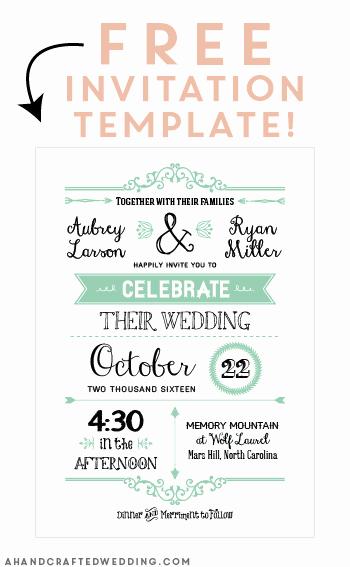 Free Wedding Invitation Printables Luxury Free Printable Wedding Invitation Template