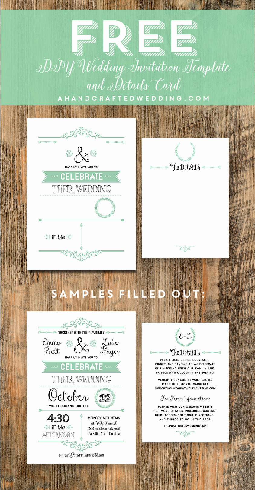 Free Wedding Invitation Printables New Free Printable Wedding Invitation Template