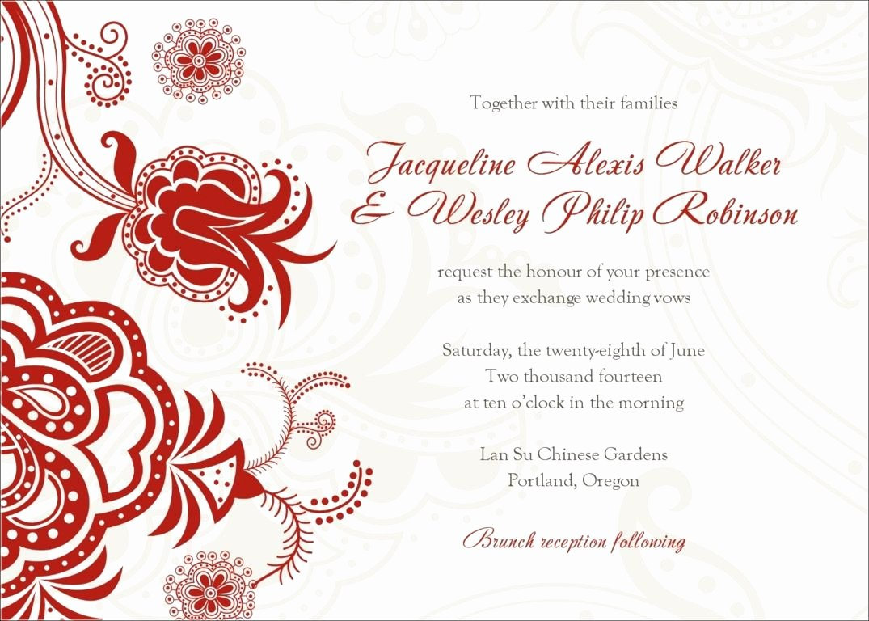 Free Wedding Invitation Printables New Invitation Word Templates Free Wedding Invitation