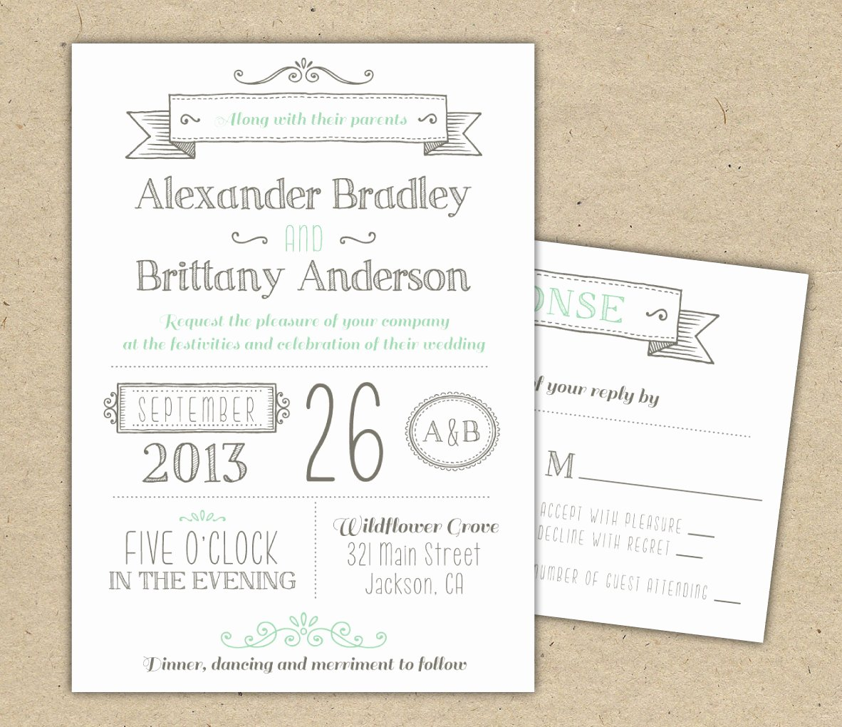 Free Wedding Invitation Printables New Wedding Invitation 1041 Sample Modern Invitation Template