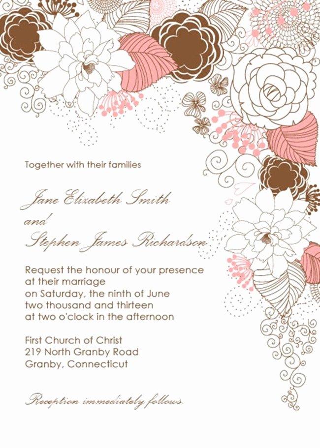 Free Wedding Invitations Printable Awesome Free Wedding Printables–diy Invitations