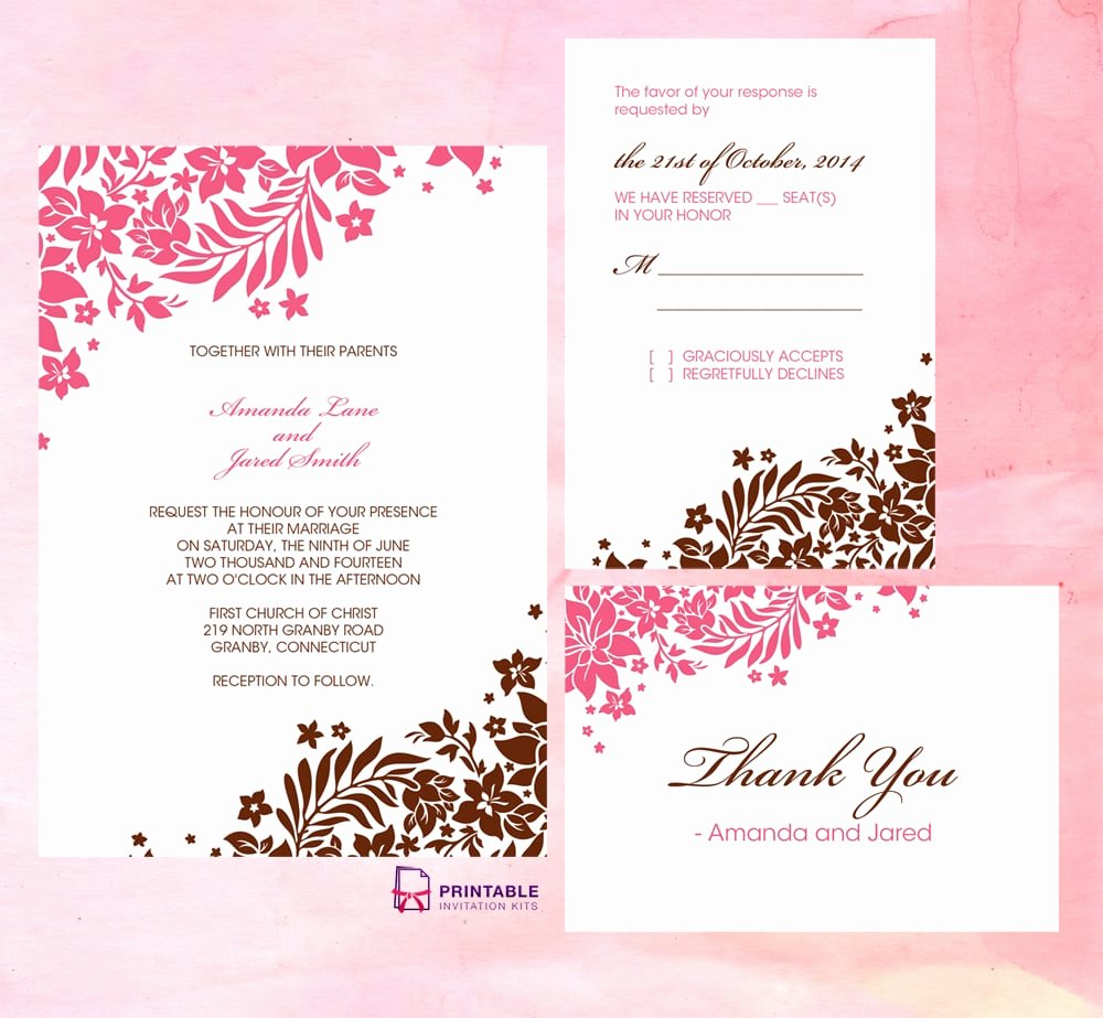 Free Wedding Invitations Printable Best Of Free Printable Wedding Invitations