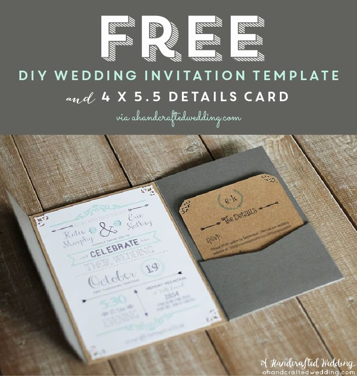 Free Wedding Invitations Printable Elegant Free Printable Wedding Invitation Template