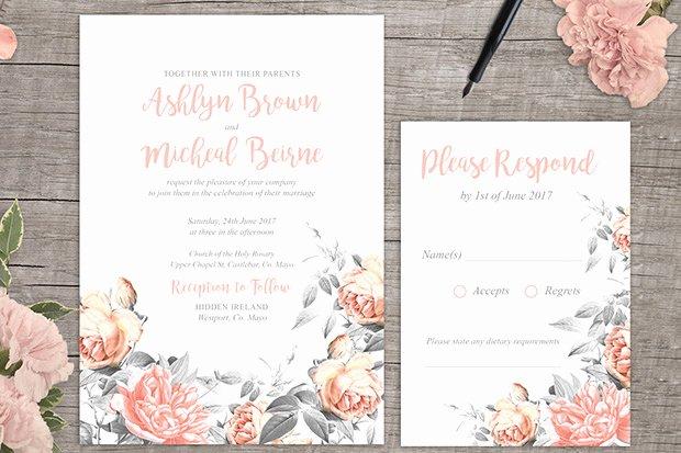 Free Wedding Invitations Printable Fresh Rosa Romance Free Floral Wedding Invitation Printable