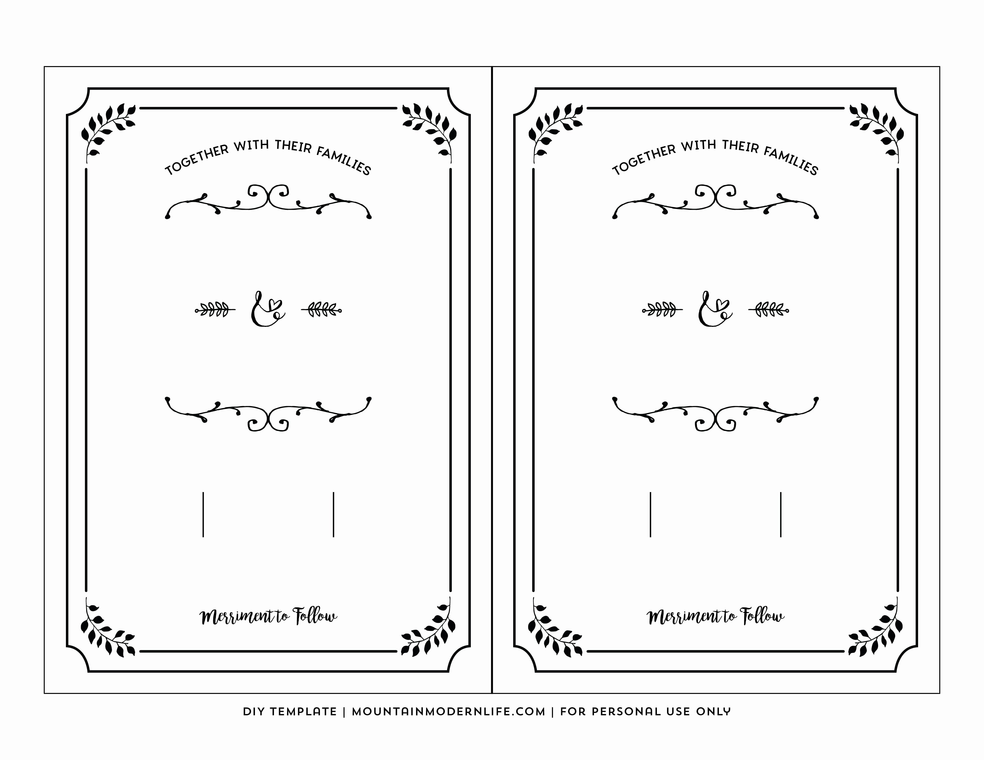 Free Wedding Invitations Printable Lovely Free Printable Blank Wedding Invitation Templates