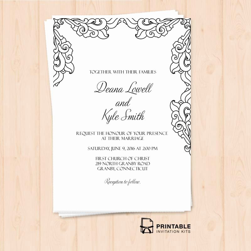 Free Wedding Invitations Printable New Free Pdf Vintage Side Border Invitation – Printable