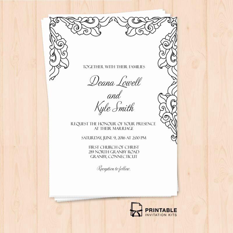 Free Wedding Invitations Printable New Free Pdf Vintage Side Border Invitation – Printable