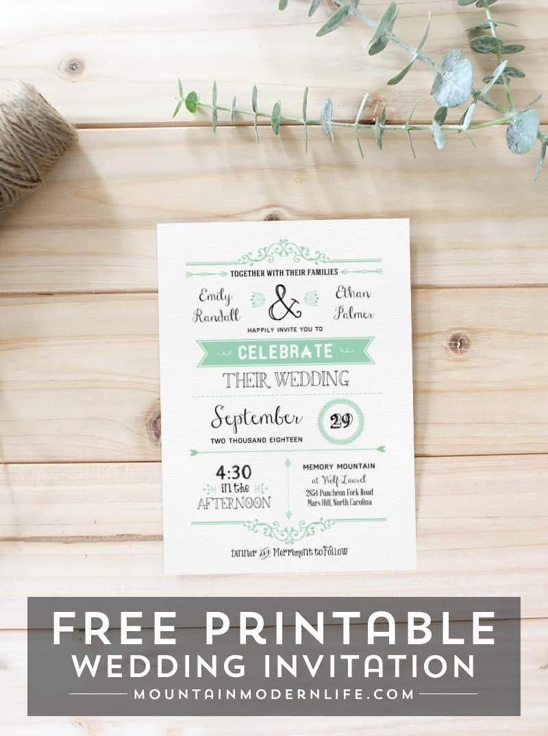 Free Wedding Invitations Printable New Free Wedding Invitation Template